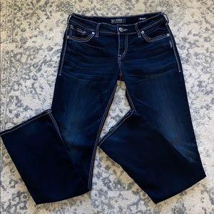 Suki mid slim boot silver jeans